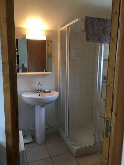 Location de vacances - Chalet à La Bresse - salle de bain du haut avec wc