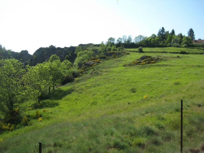 Location de vacances - Chalet à Le Malzieu-Ville - vue de la terrasse sur la montagne