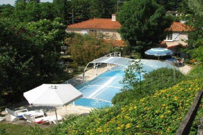 Location de vacances - Chambre d'hôtes à Velluire - Jardin et piscine Le Petit Massigny