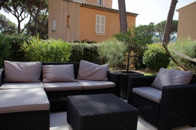 Location de vacances - Villa à Gassin - Salon de jardin