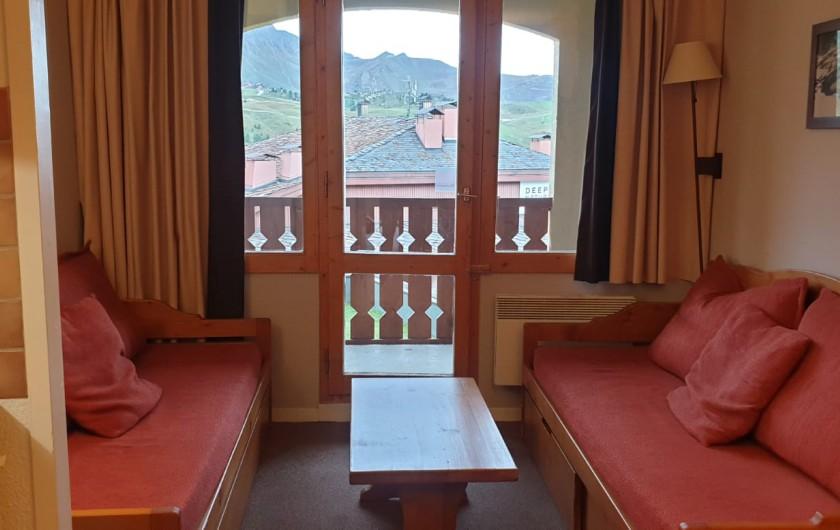 Location de vacances - Appartement à Mâcot-la-Plagne - Salon