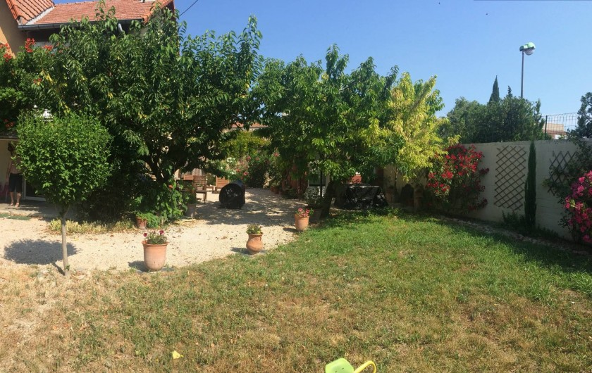 Location de vacances - Appartement à Carpentras - jardin