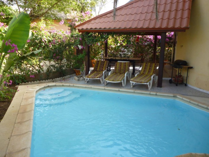 Location de vacances - Villa à Saly - PISCINE SOUS PALMIER