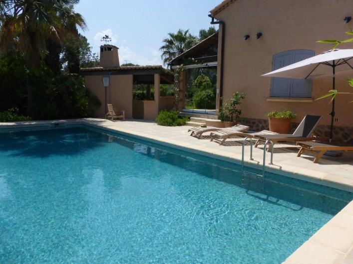 Location de vacances - Villa à Saint-Raphaël - Piscine