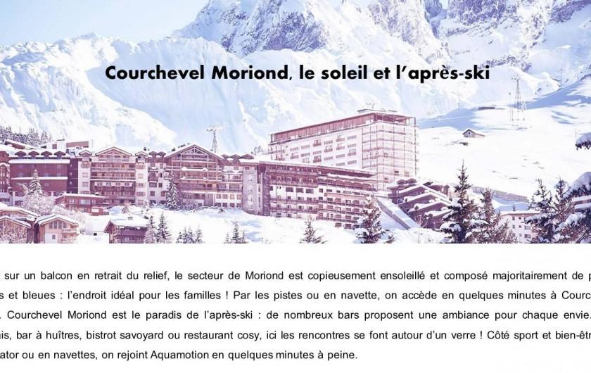 Location de vacances - Appartement à Courchevel 1650 (Moriond) - Vue aérienne