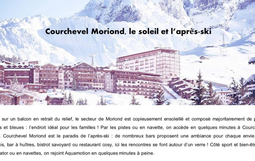 Location de vacances - Appartement à Courchevel 1650 (Moriond) - Courchevel Moriond