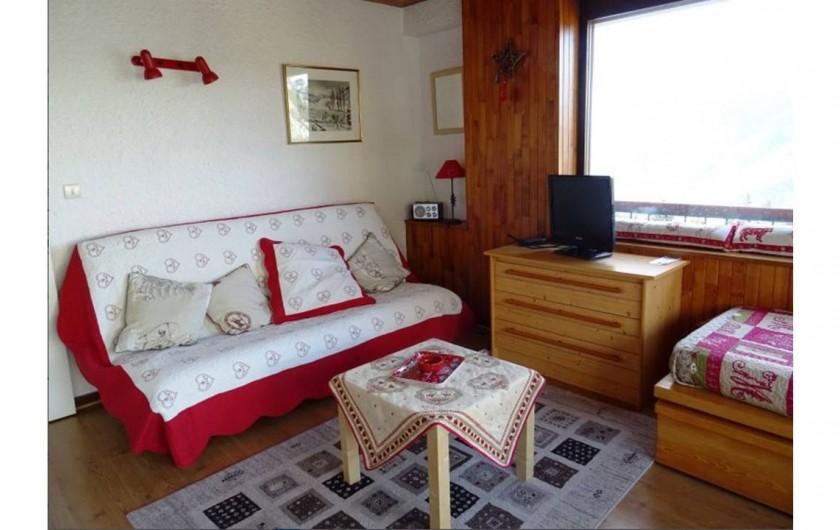 Location de vacances - Appartement à Courchevel 1650 (Moriond) - Salon