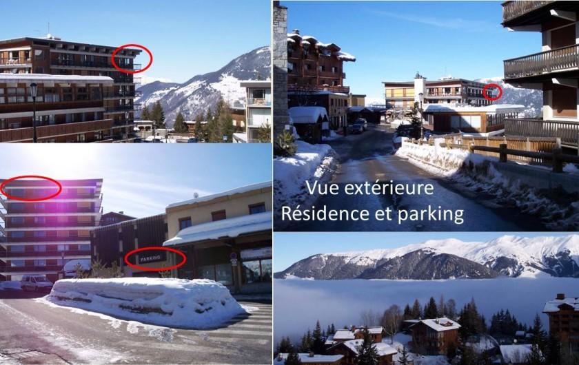 Location de vacances - Appartement à Courchevel 1650 (Moriond) - Vue exterieure et parking