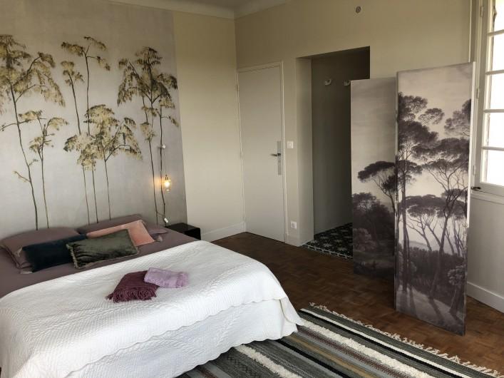 Location de vacances - Villa à Royan - la chambre principale au 1er étage