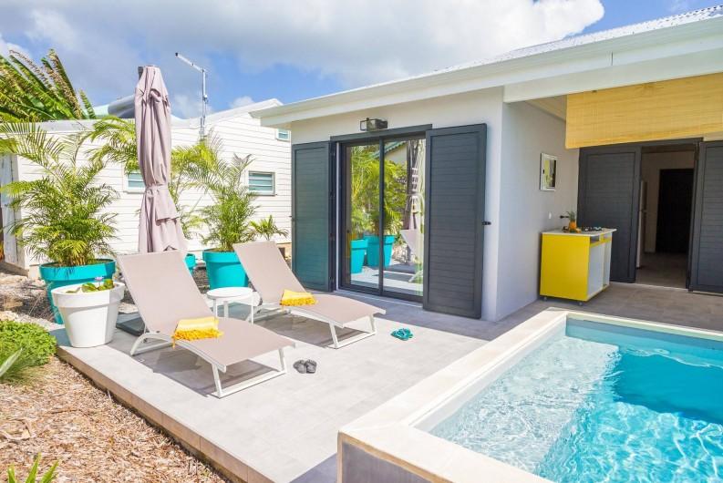 Location de vacances - Villa à Sainte-Anne - Iguane House Villas & Micro Spa Villa Passion  terrasse piscine