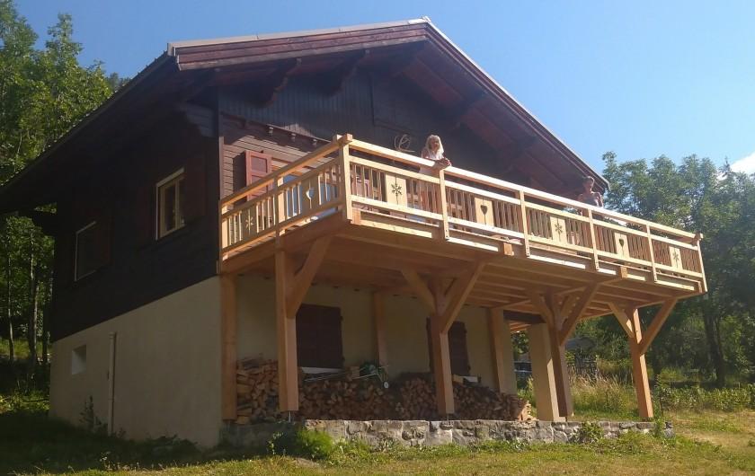 Location de vacances - Chalet à Vallouise - Chalet en été