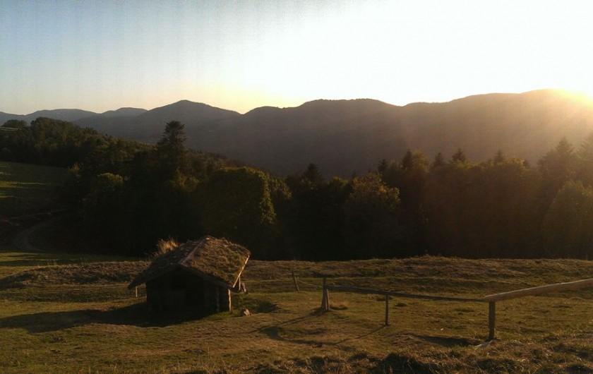 Location de vacances - Chalet à La Bresse - Coucher de soleil sur les crêtes