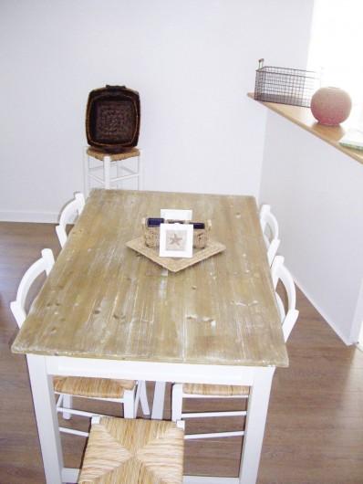 Location de vacances - Appartement à Saint-Brevin-les-Pins - Locations Vacances Mer : Coin repas pour 6 personnes