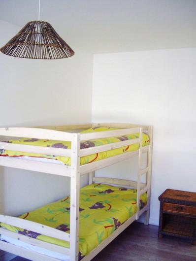 Location de vacances - Appartement à Saint-Brevin-les-Pins - Locations Vacances Particuliers : Appartement chambre lits superposés