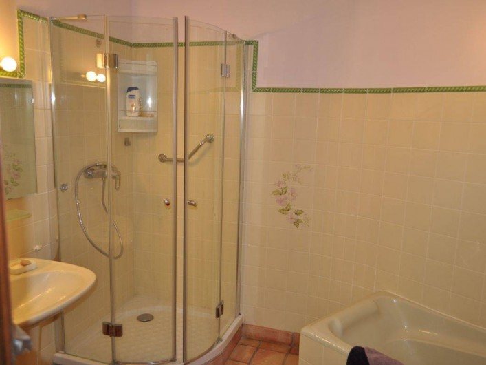 Location de vacances - Villa à Saint-Génies-de-Malgoirès - Salle de bain privative