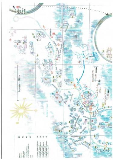Location de vacances - Appartement à Les Claux - plan de la location