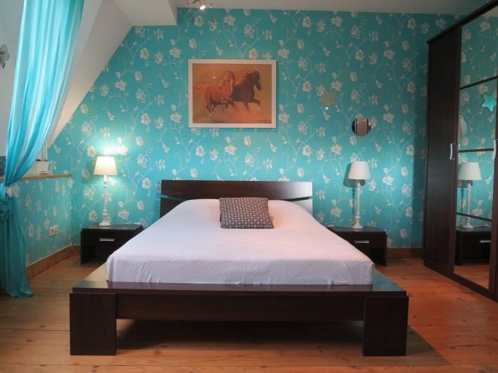 Location de vacances - Gîte à Barentin - chambre 3 : lit 140 cm