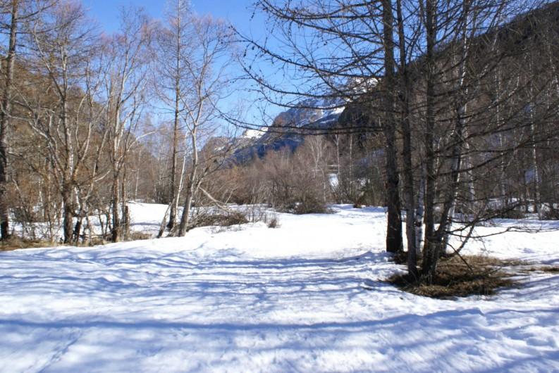 Location de vacances - Chalet à Saint-Paul-sur-Ubaye - les longs parcours de ski de fond , a deux pas du chalet