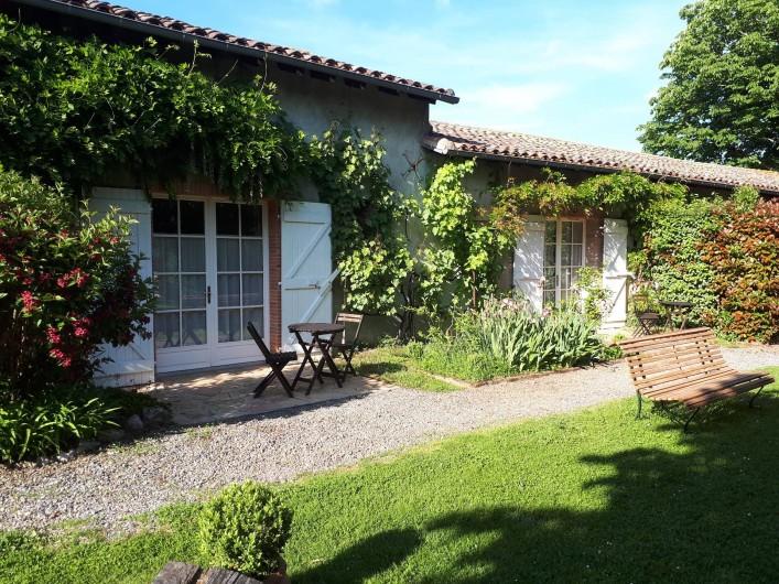 Location de vacances - Chambre d'hôtes à Saint-Thomas - Les terrasses des chambres Toulouse-Lautrec et Arcachon