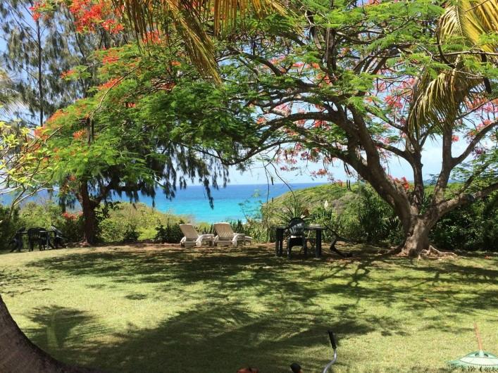 Location de vacances - Villa à Sainte-Anne - vue depuis la piscine