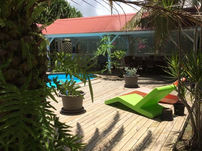 Location de vacances - Villa à Sainte-Anne - le carbet attenant à la villa