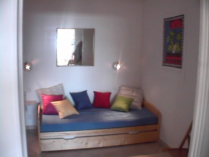 Location de vacances - Appartement à Cassis - La petit chambre avec lits gigognes