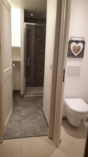 Location de vacances - Appartement à Peisey-Nancroix - Salle de douche et WC indépendant