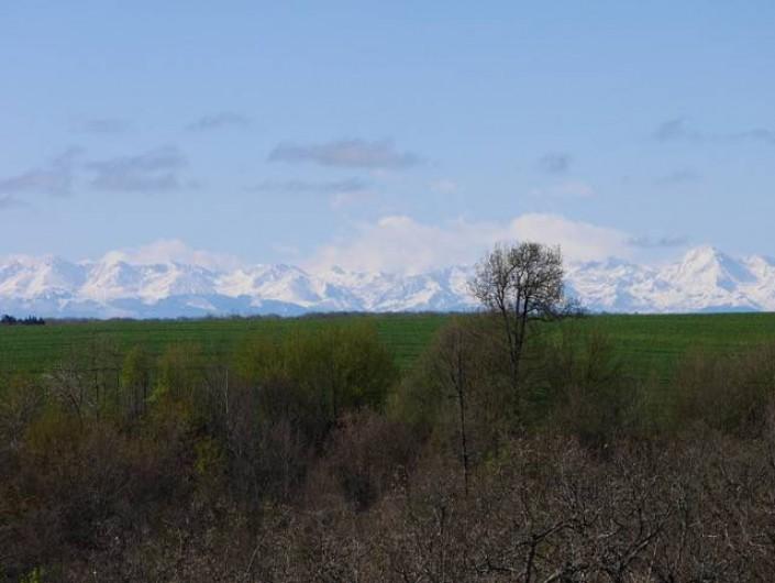 Location de vacances - Villa à Castin - Vue depuis la terrasse sud de la villa par beau temps.