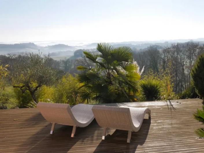 Location de vacances - Villa à Castin - Vue sur le paysage gersois