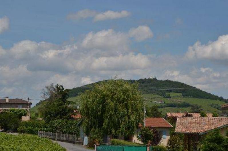Location de vacances - Gîte à Odenas - le mont Brouilly vu du gite domaine du barvy