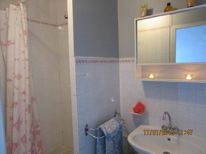 Location de vacances - Gîte à Odenas - salle d'eau gite domaine du barvy