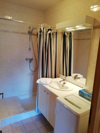 Location de vacances - Chalet à Saint-Nicolas de Véroce - La salle de douche au rez-de-chaussée