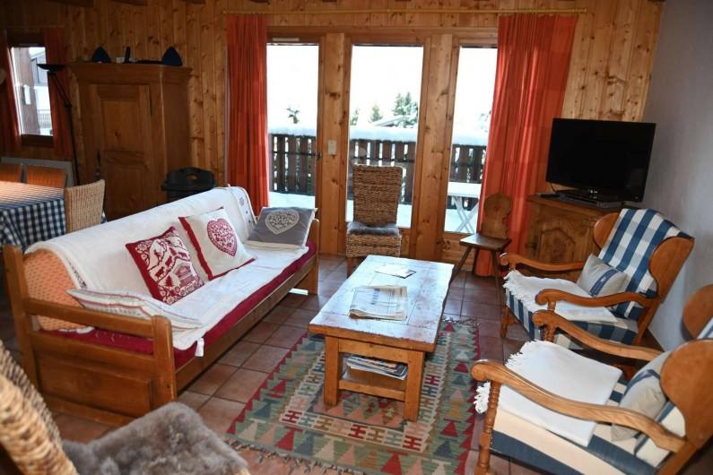 Location de vacances - Chalet à Saint-Nicolas de Véroce - Le salon