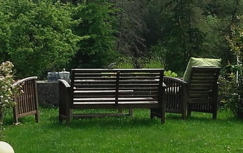 Location de vacances - Appartement à Charvonnex - le coin jardin