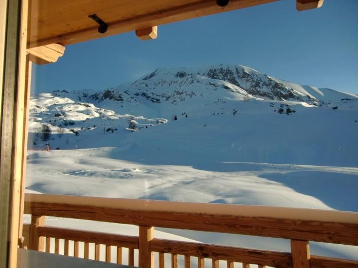 Location de vacances - Chalet à L'Alpe d'Huez - vue du balcon-terrasse