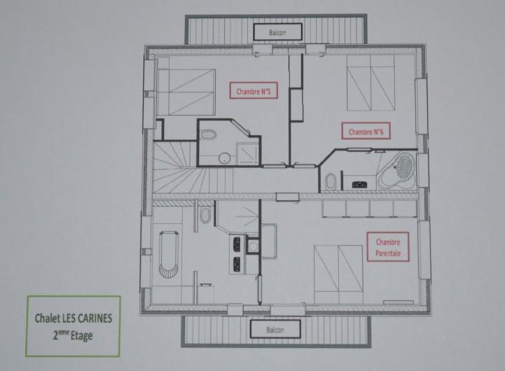 Location de vacances - Chalet à L'Alpe d'Huez - plan 2ème étage