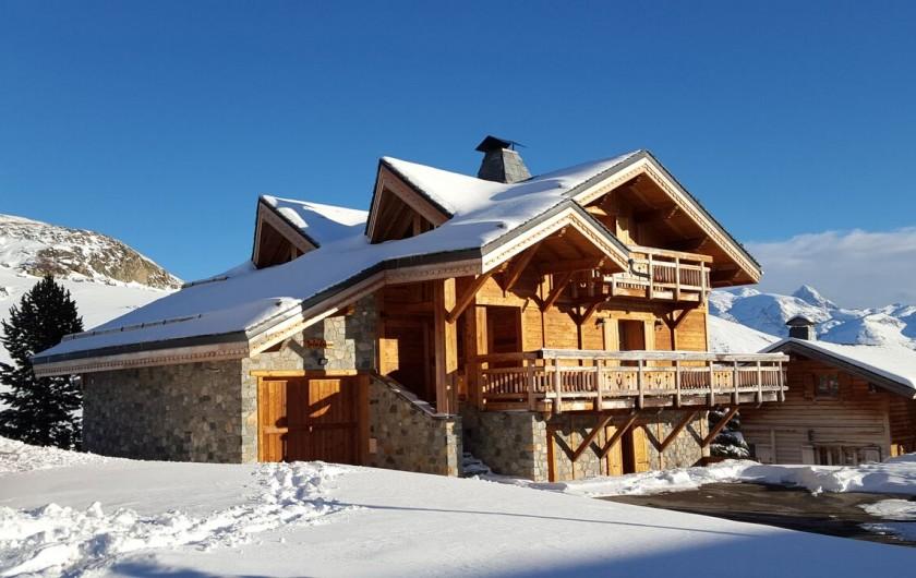Location de vacances - Chalet à L'Alpe d'Huez - vue côté Ouest