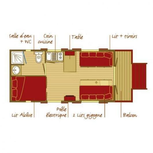 Location de vacances - Gîte à Roquecor - Dormir en Roulotte