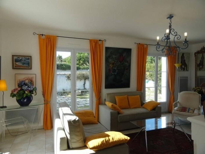 Location de vacances - Villa à Sainte-Marie-de-Ré - salon