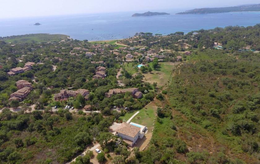 Location de vacances - Villa à Sainte-Lucie de Porto-Vecchio - VUE AÉRIENNE