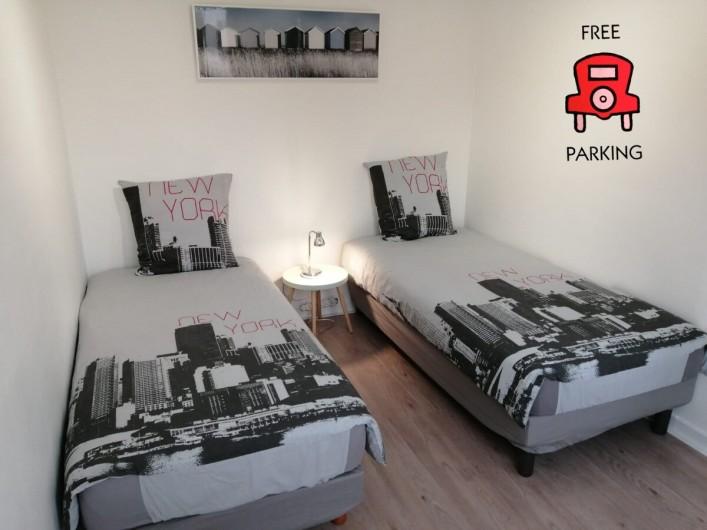 Location de vacances - Appartement à Colmar - chambre 1 : 2 lits simples