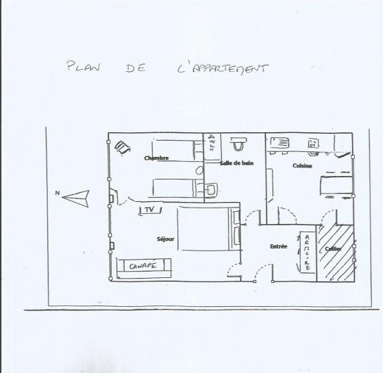 Location de vacances - Appartement à Colmar - plan de l'appartement