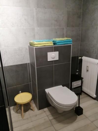 Location de vacances - Appartement à Colmar - serviettes de bain à disposition