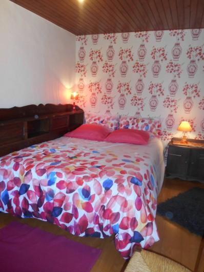 Location de vacances - Maison - Villa à Nouzerolles - chambre côté jardin  lit 140/190 matelas épais