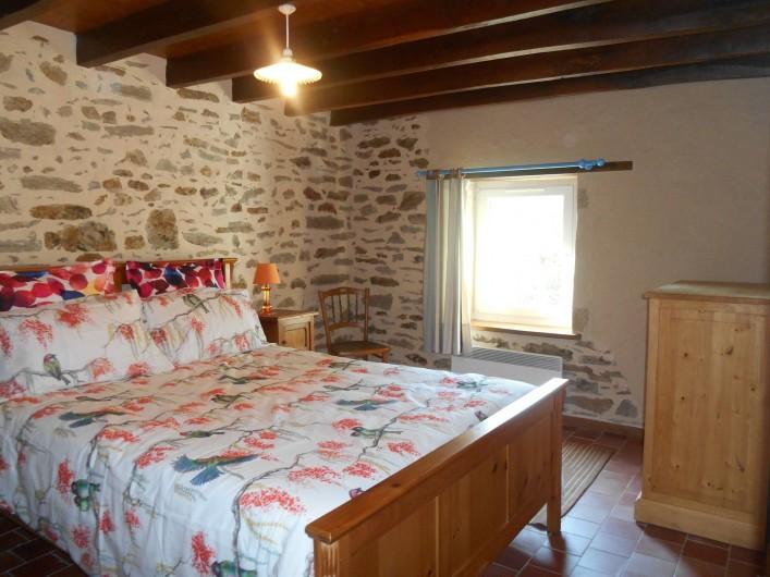 Location de vacances - Maison - Villa à Nouzerolles - chambre bleue lit 140/200 matelas épais