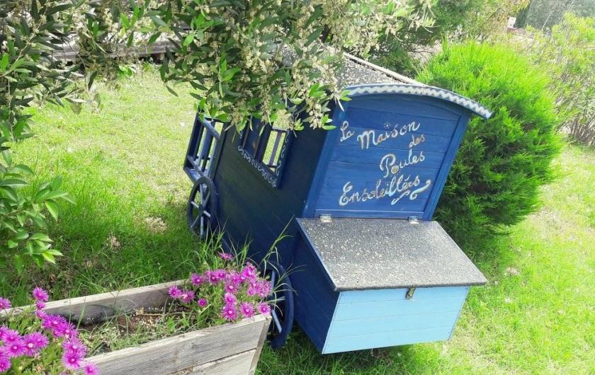 Location de vacances - Yourte à Barjac - Ici, même les petites poules dorment dans un hébergement insolite !