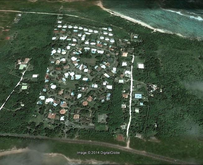 Location de vacances - Villa à Saint-François - Vue aérienne de la résidence