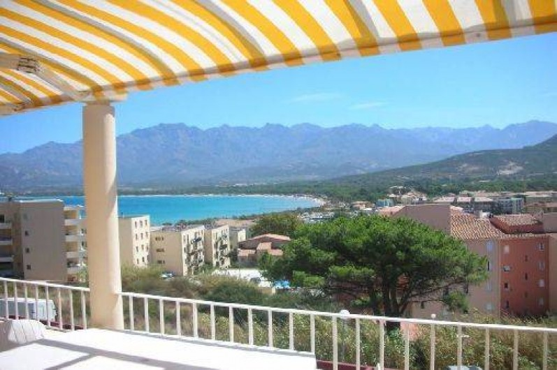 Location de vacances - Appartement à Calvi - Terrasse avec vue panoramique