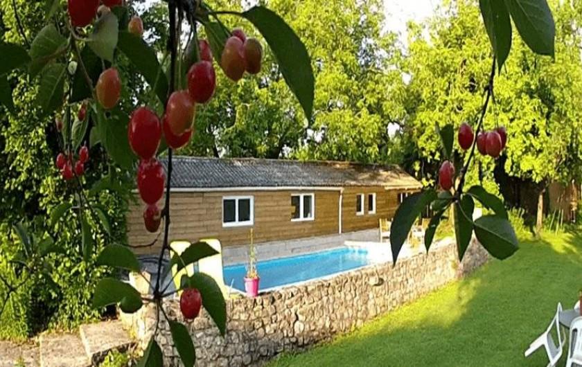 Location de vacances - Chambre d'hôtes à Messas - Chambre, piscine.