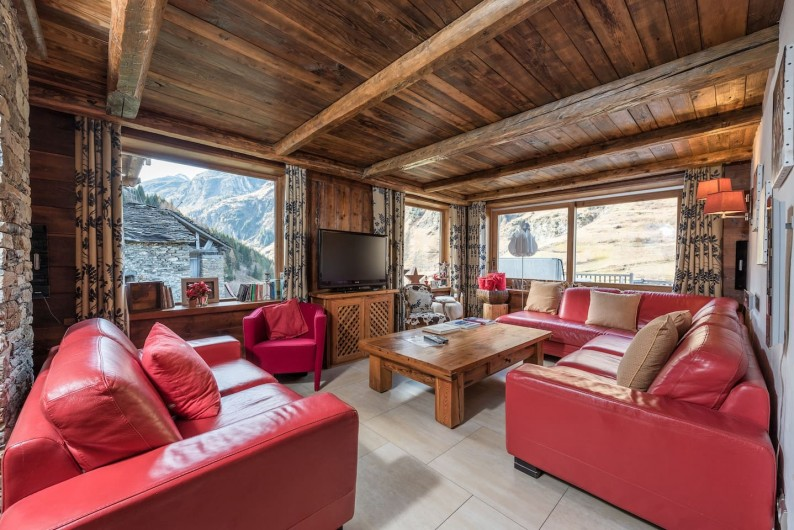Location de vacances - Chalet à Sainte-Foy-Tarentaise - Le Chalet des Anges - Salon